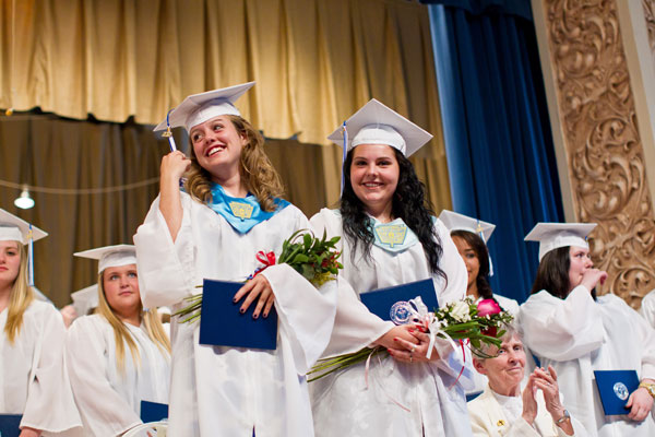 Dual Salutatorians Isobel Johnston and Janelle Lauciello