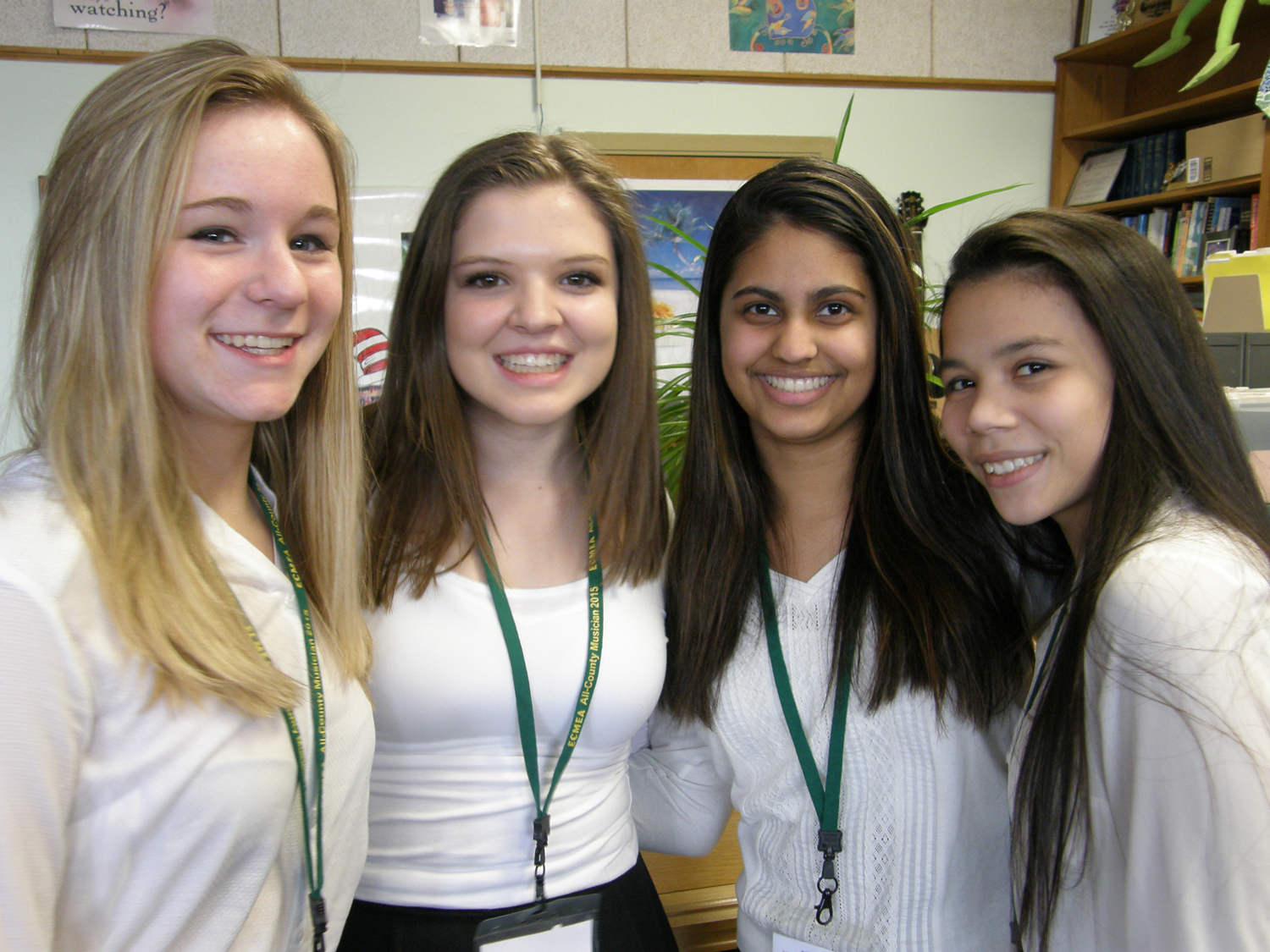 From left to right: Kayleigh Mighells, Emily Burns, Grace Ippolito, Yamilet Montanez
