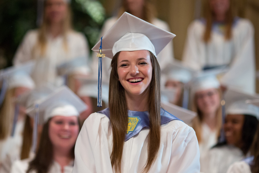 Megan Sheehan at Commencement